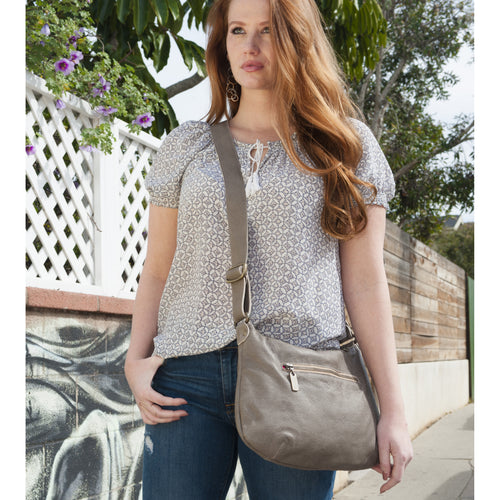 Mini Pamela Crossbody Hobo - Cobblestone - Brynn Capella, Hobo
