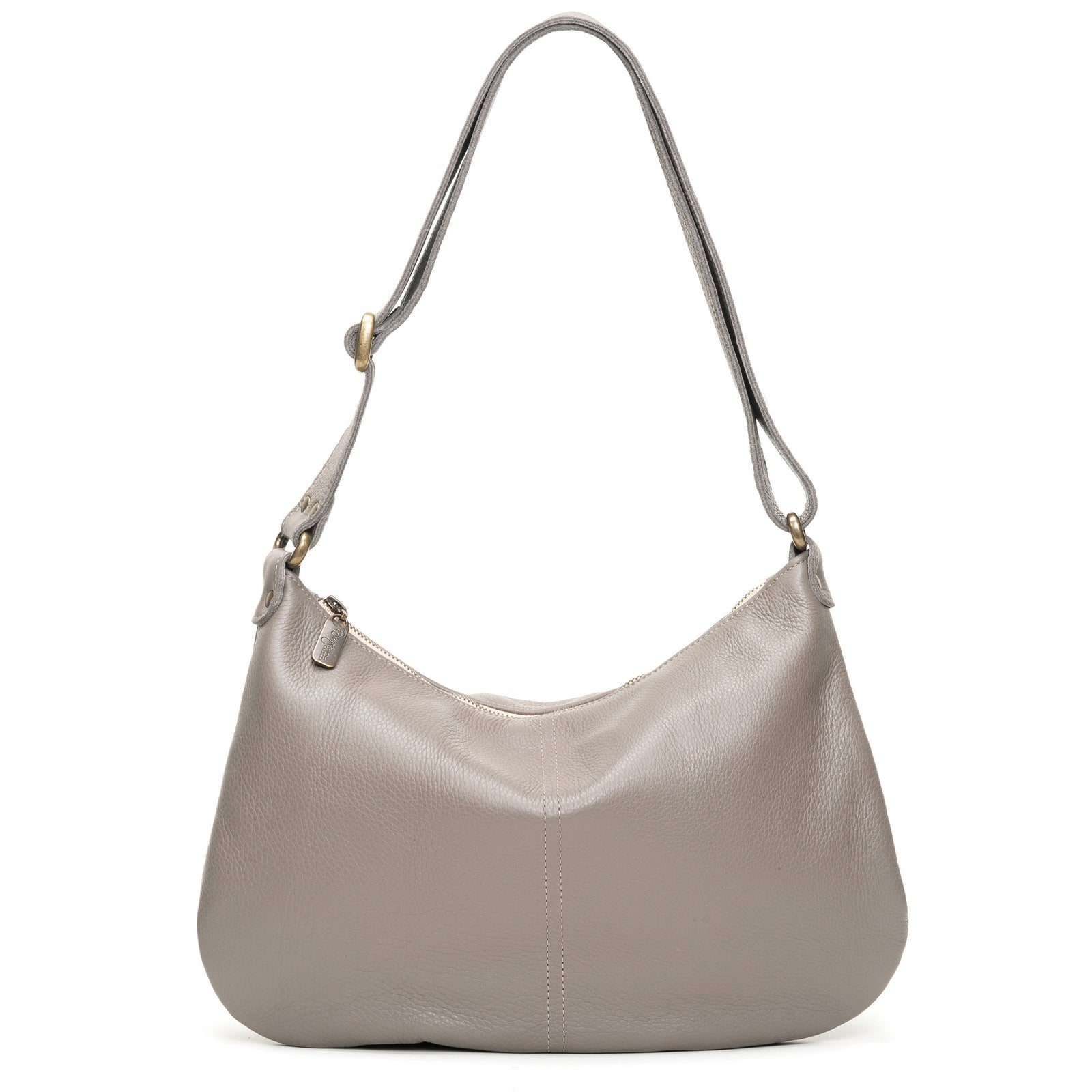 Mini Pamela Crossbody Hobo - Oyster Shell - Brynn Capella, Hobo