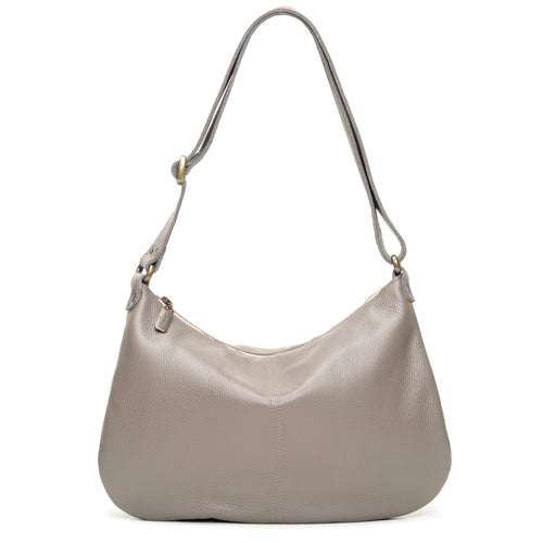 Mini Pamela Crossbody Hobo - Oyster Shell