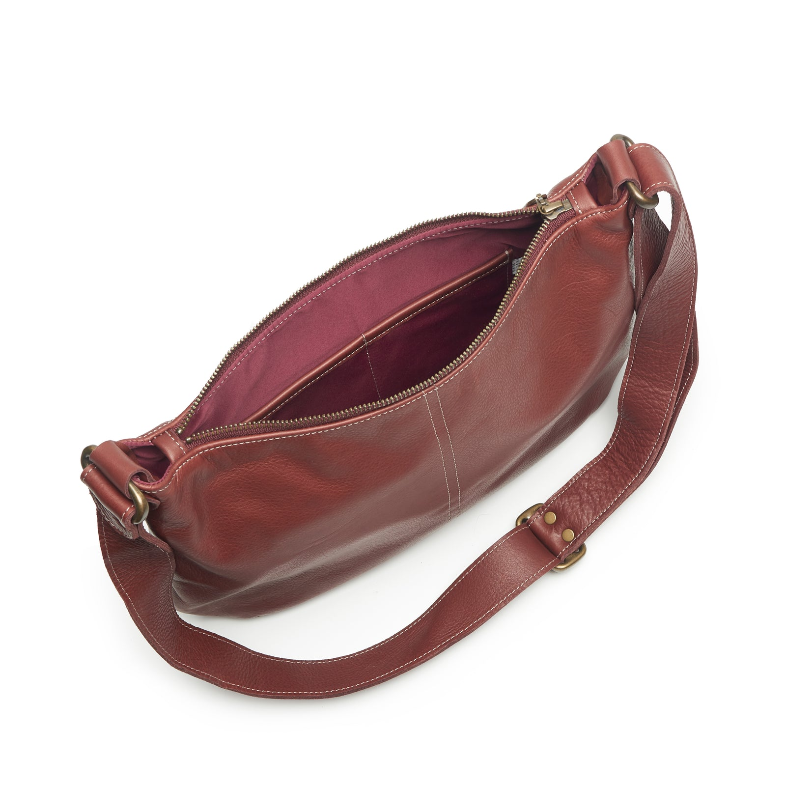 Mini Pamela Crossbody Hobo - Merlot - Brynn Capella, Hobo