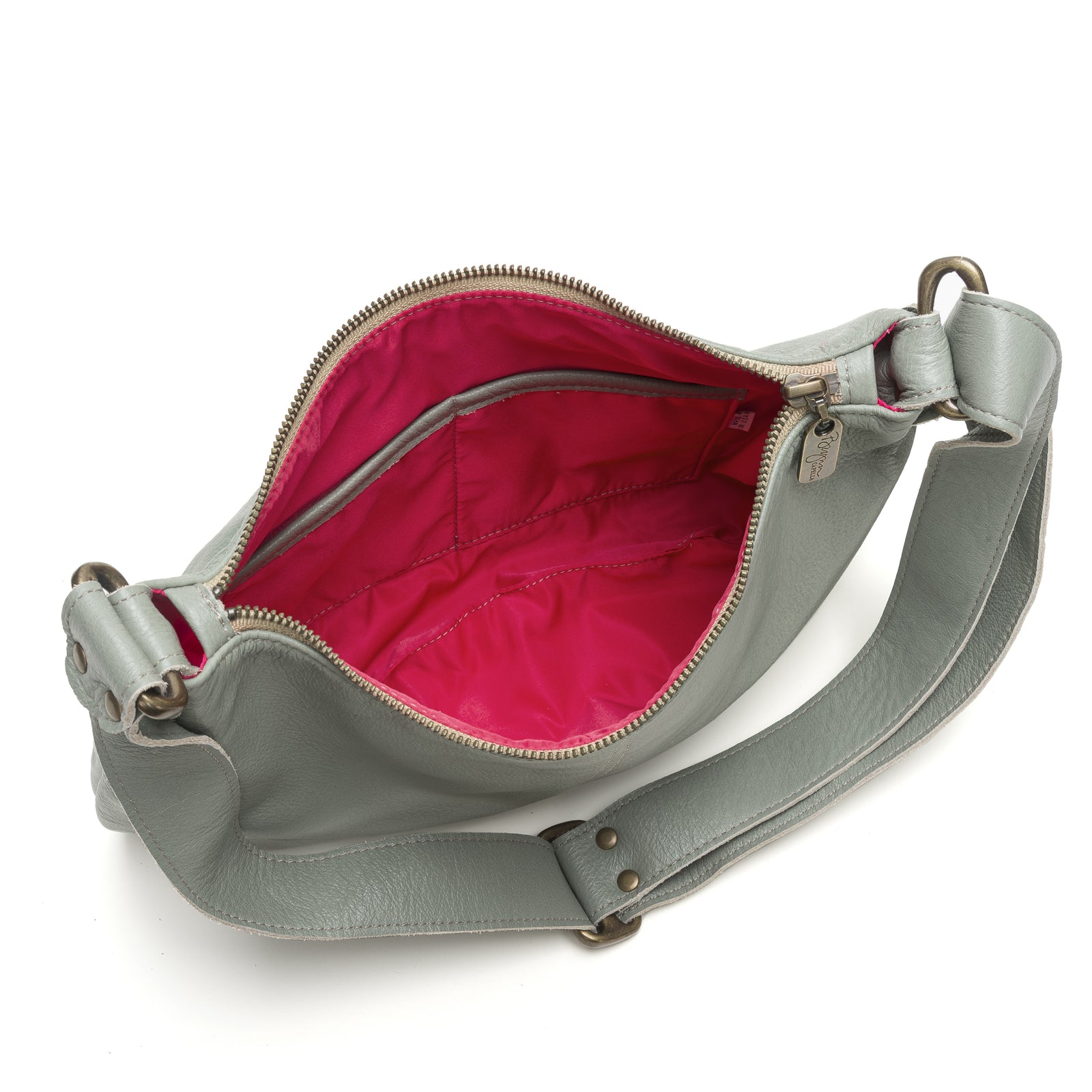 Mini Pamela Crossbody Hobo - Sea Breeze - Brynn Capella, Hobo
