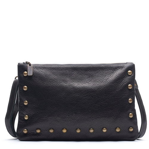 Nikki Clutch/Crossbody - Black Sand