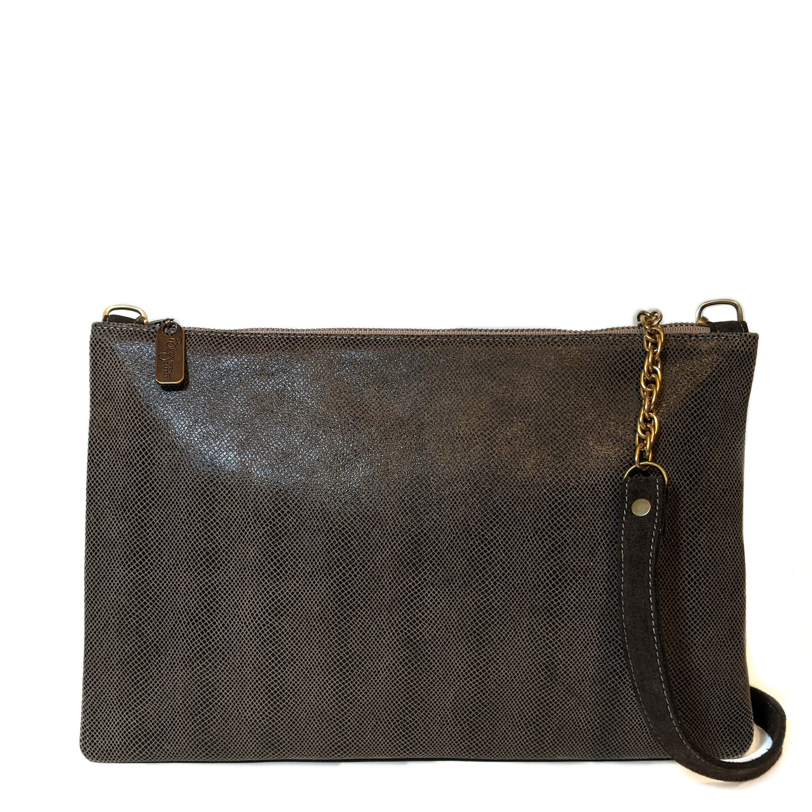 Nikki Clutch/Crossbody - Chocolate Boa