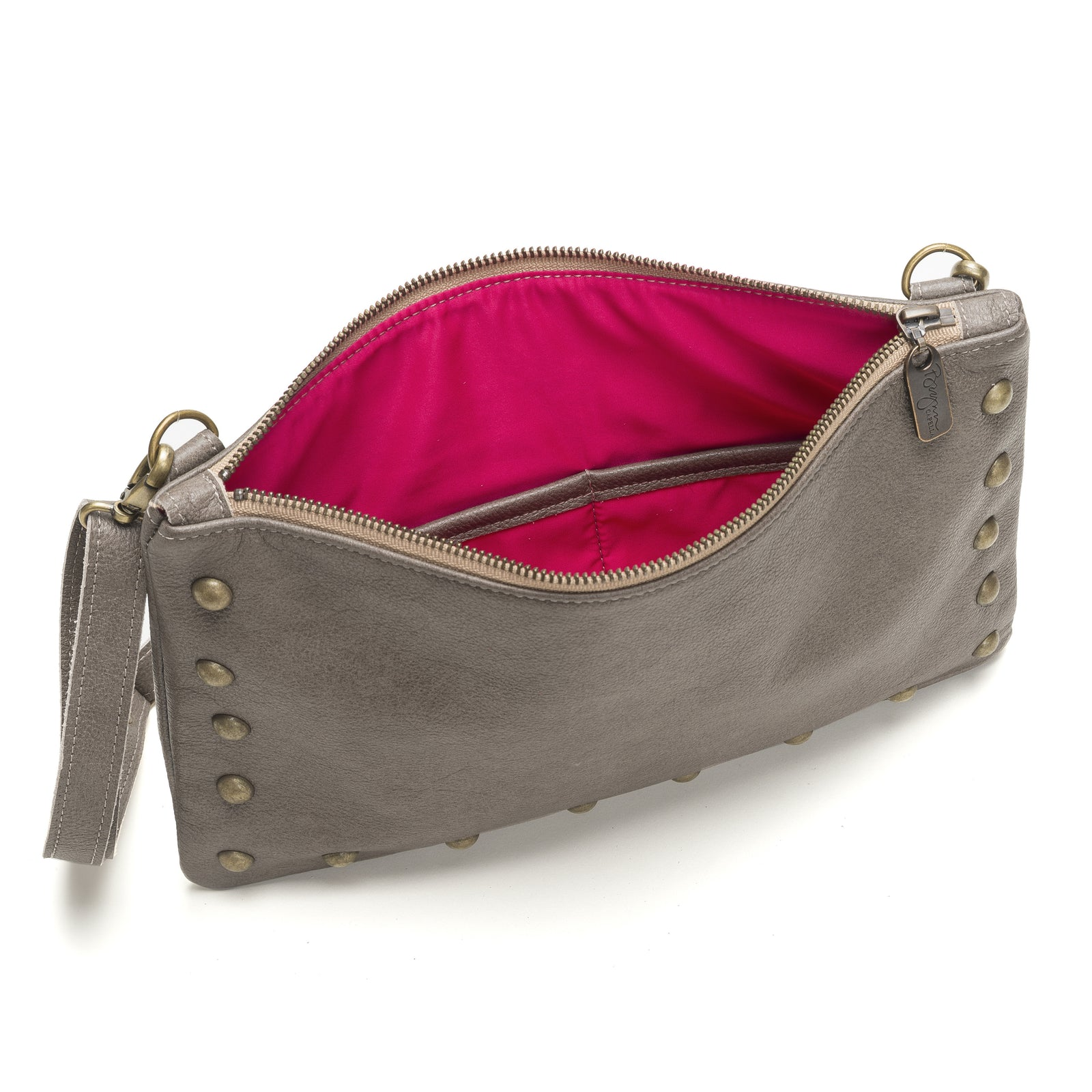 Nikki Clutch/Crossbody - Cobblestone - Brynn Capella, Small Crossbody