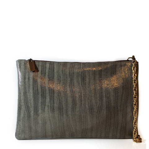 Heather oversized clutch - Bombshell Bronze