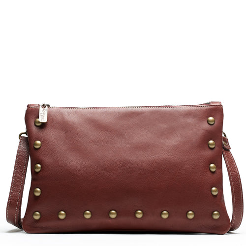 Nikki Clutch/Crossbody - Merlot - Brynn Capella, Small Crossbody