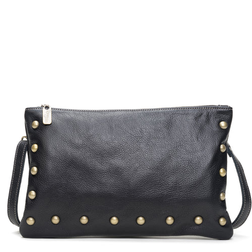 Nikki Clutch/Crossbody - Caviar - Brynn Capella, Small Crossbody