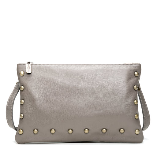 Nikki Clutch/Crossbody - Oyster Shell