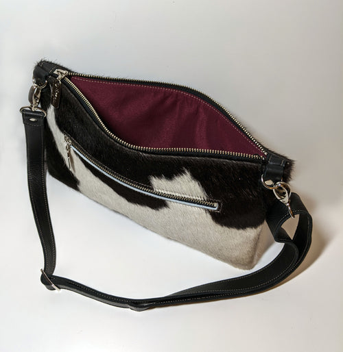 Nikki Clutch/Crossbody - Black & White