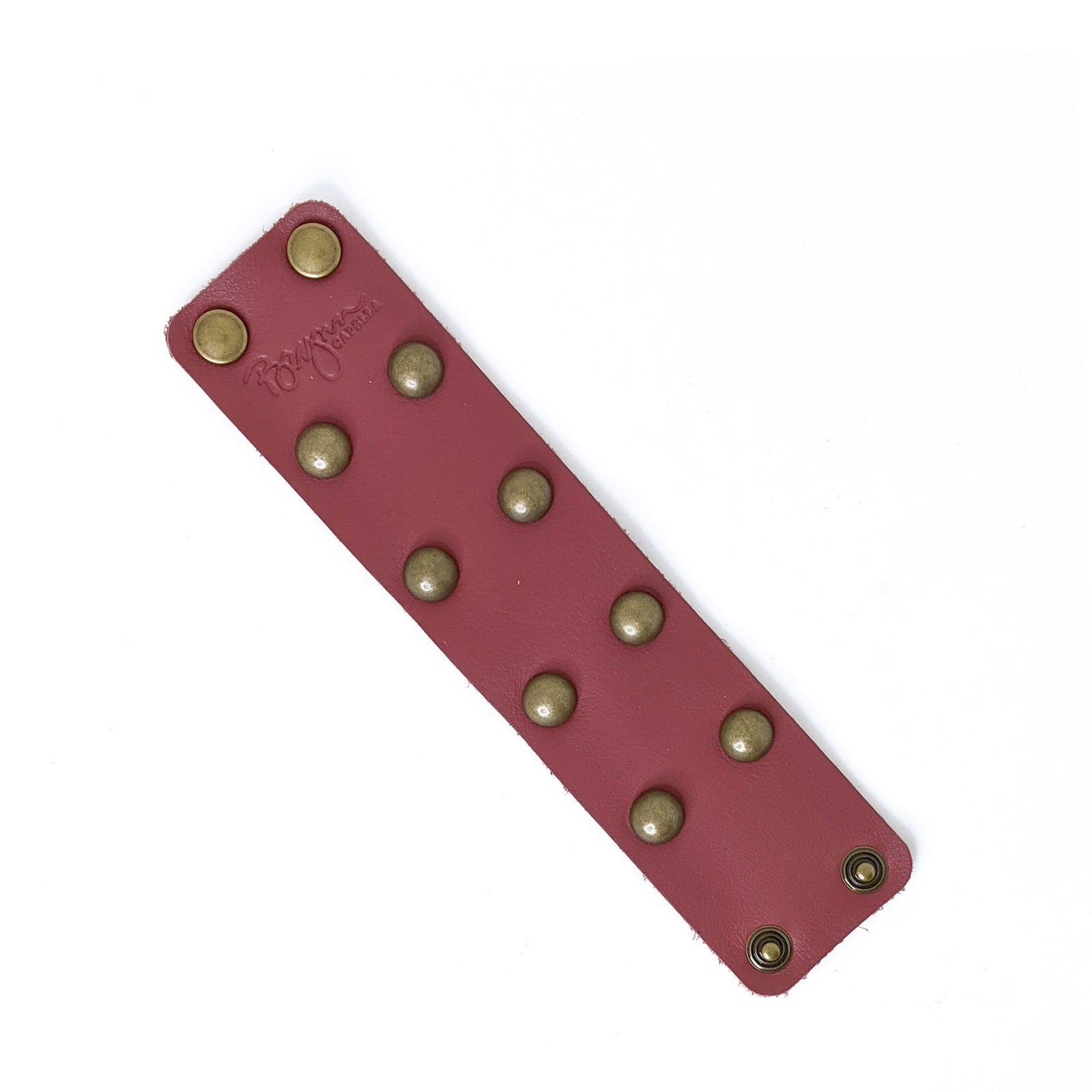 Lexy Studded Bracelet in Rosewood