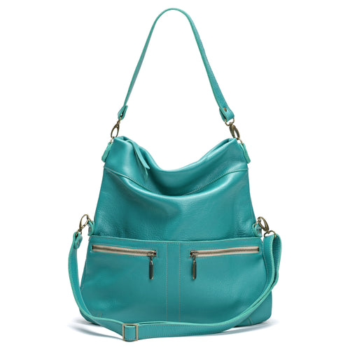 Lauren Crossbody - Blue Lagoon - Brynn Capella, Large Crossbody