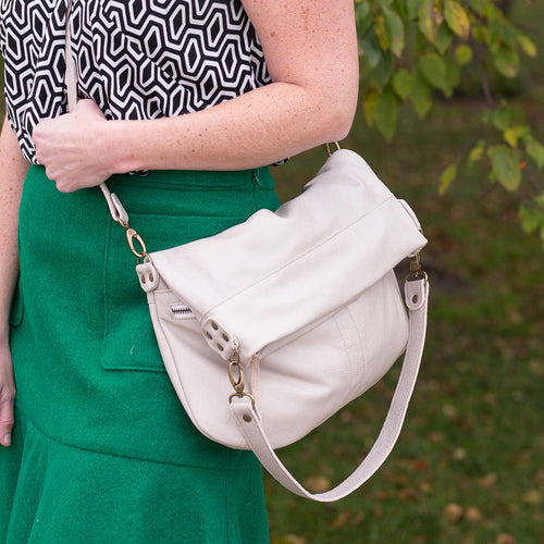 Lauren Crossbody - Coconut - Brynn Capella, Large Crossbody