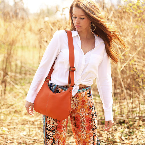 Mini-Pamela Crossbody Hobo - Toucan