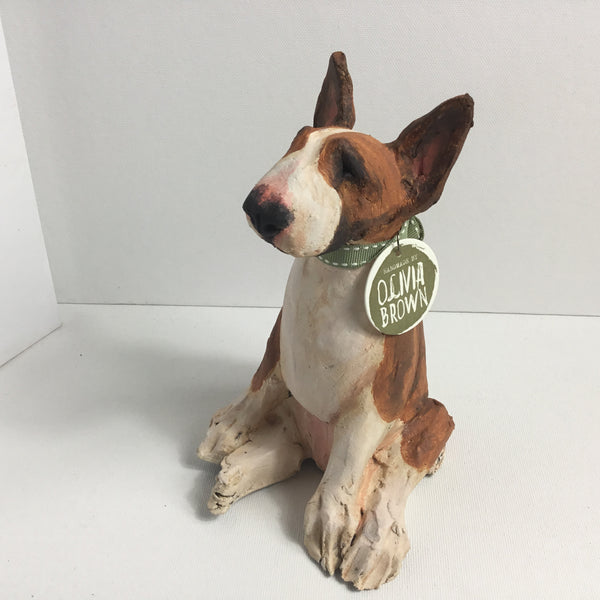 English Bull Terrier: Brown (small) by Olivia Brown