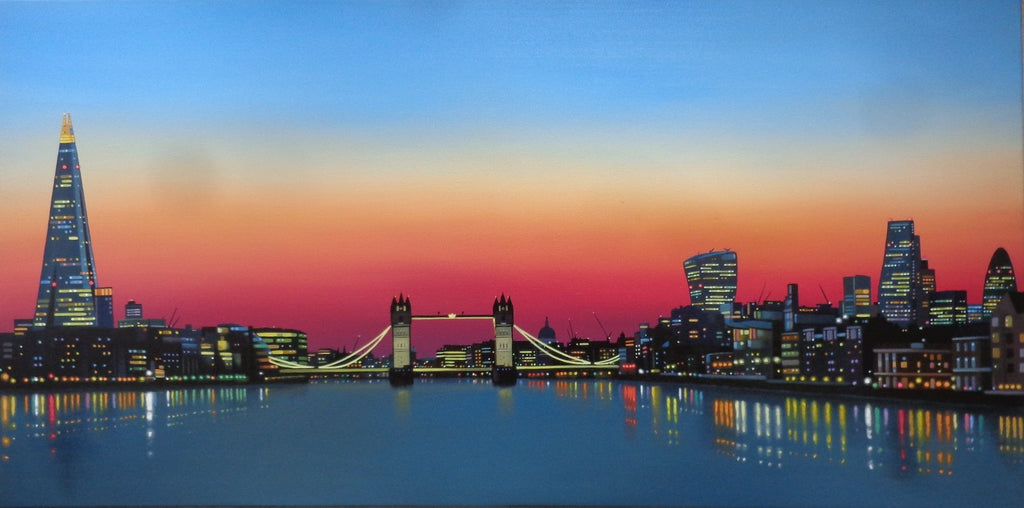 Thames Sunset (Original) by Neil Dawson