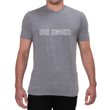 Mens/Unisex Grey Be Kind Allmade T-shirt Front