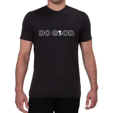 Do Good Space Black Mens/Unisex Allmade T-Shirt Front