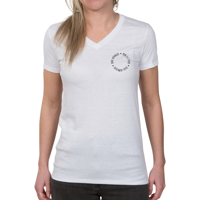 Be Kind. Be Love. Do Good. Women's Allmade V-Neck T-shirt