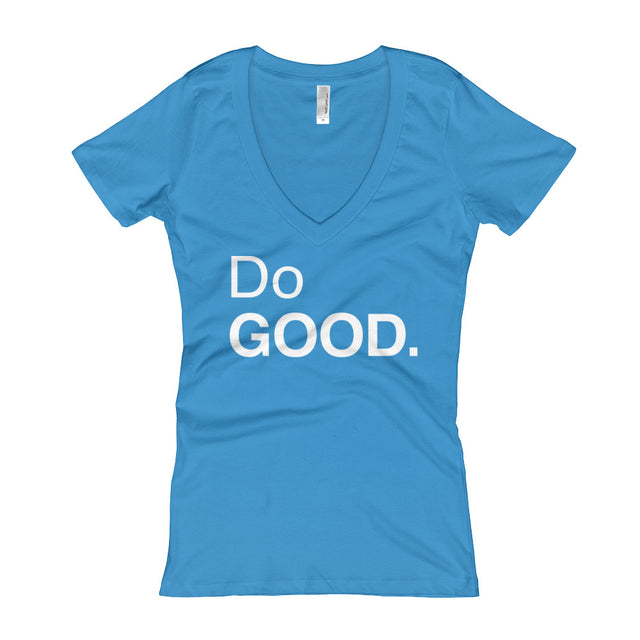 Women's Do GOOD Deep-V-Neck Tee - The Do Good Shop