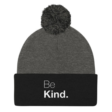 Be Kind Pom Pom Knit Cap