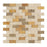 "3 Color Mixed Travertine Mosaic - 1"" x 2"" Brick Split Face"