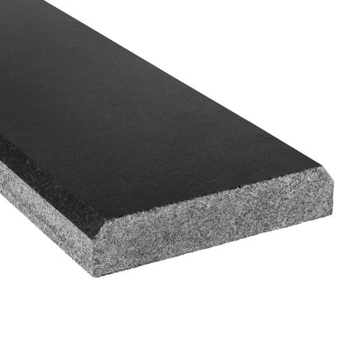 "Absolute Black Granite Threshold - 4"" x 36"" Double Bevel Polished"