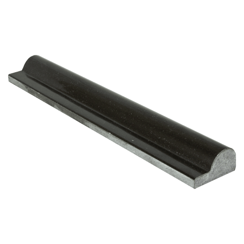 "Absolute Black Granite Liner - 2"" x 12"" F1 Chair Rail Polished"