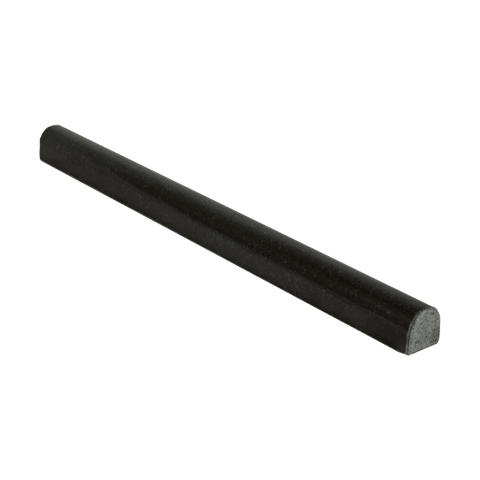 "Absolute Black Granite Liner - 3/4"" x 12"" Bullnose Polished"