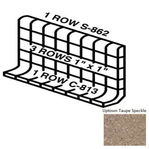 Keystones Unglazed Mosaic Uptown Taupe Speckle D202