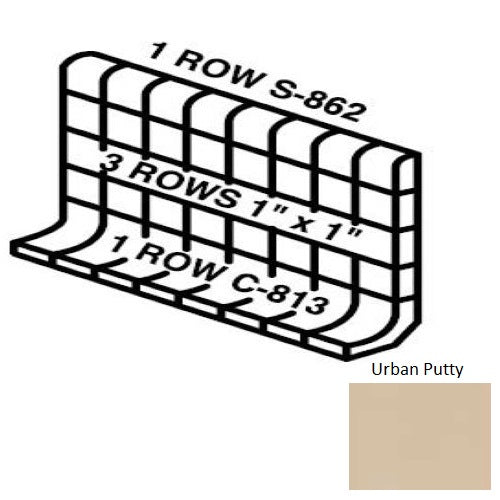 Keystones Unglazed Mosaic Urban Putty D161