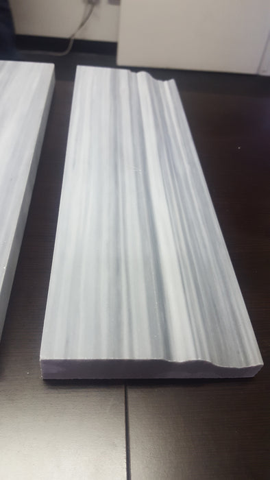 "Bardiglio Vein Cut Marble Baseboard - 4"" x 12"" Polished"