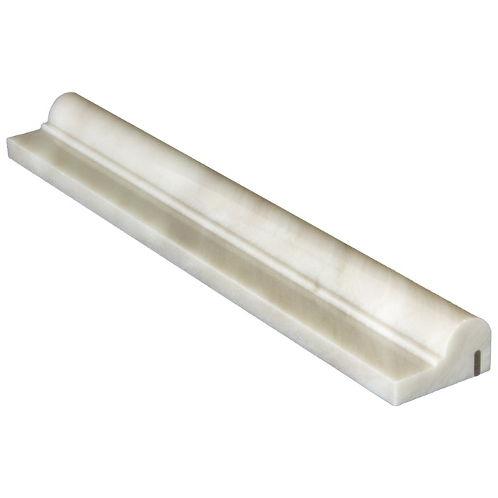 "Bianco Garda Marble Liner - 2"" x 12"" F1 Chair Rail Polished"