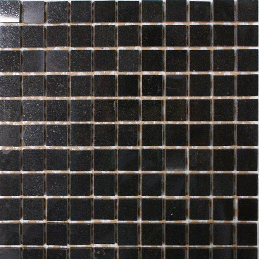 "Black Galaxy Granite Mosaic - 1"" x 1"" Polished"