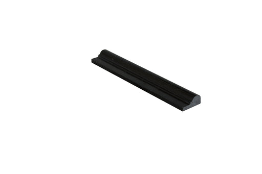 "Black Galaxy Granite Liner - 2"" x 12"" F1 Chair Rail Polished"