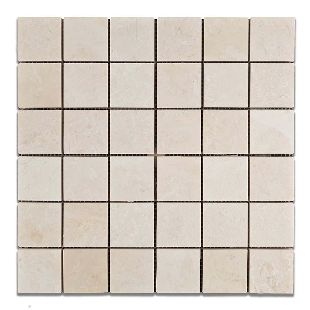 "Botticino Marble Mosaic - 2"" x 2"" Polished"