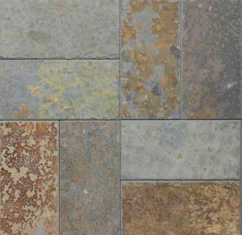Brazilian Multicolor Slate Chiseled Tile