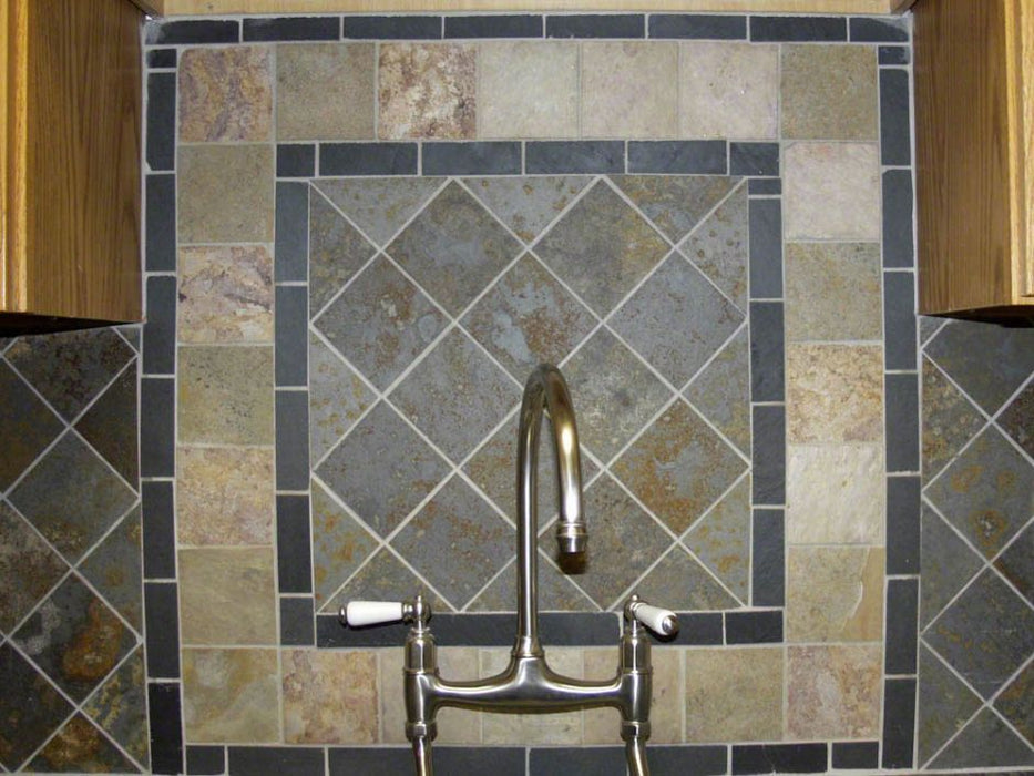 Brazilian Multicolor Natural Cleft Slate Tile