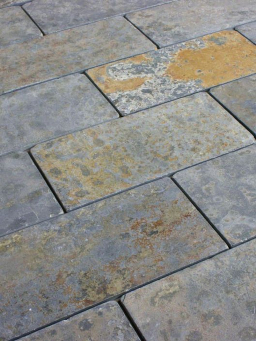 "Brazilian Multicolor Slate Tumbled Tile - 3"" x 12"" x 3/8"""