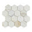 "Calacatta Gold Marble Mosaic - 3"" Hexagon Polished"