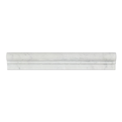 "White Carrara Marble Liner - 2"" x 12"" F1 Chair Rail Polished"