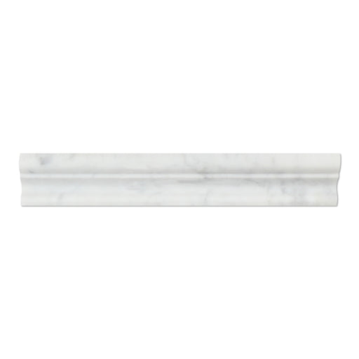 "White Carrara Marble Molding - 2"" x 12"" Crown (Mercer) Molding Polished"