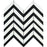 Calacatta Gold Marble Mosaic - Large Chevron with Black Polished