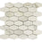 "Calacatta Gold Marble Mosaic - 2"" x 3"" Elongated Hexagon Polished"