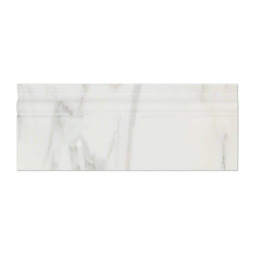 "Oriental White Marble Baseboard - 4"" x 12"" Polished"