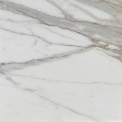 "Full Tile Sample - Calacatta Gold Marble Tile - 18"" x 18"" x 3/8"" Honed"
