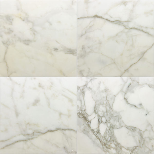 "Calacatta Gold Bettogli Extra Polished Marble Tile - 12"" x 12"" x 3/8"""