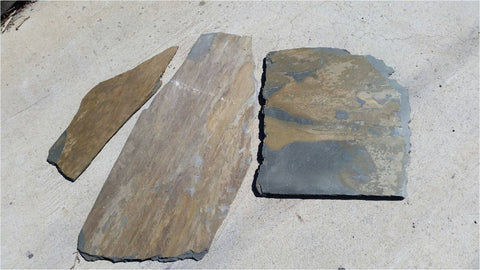 California Gold Slate Flagstone - Natural Cleft Face & Back