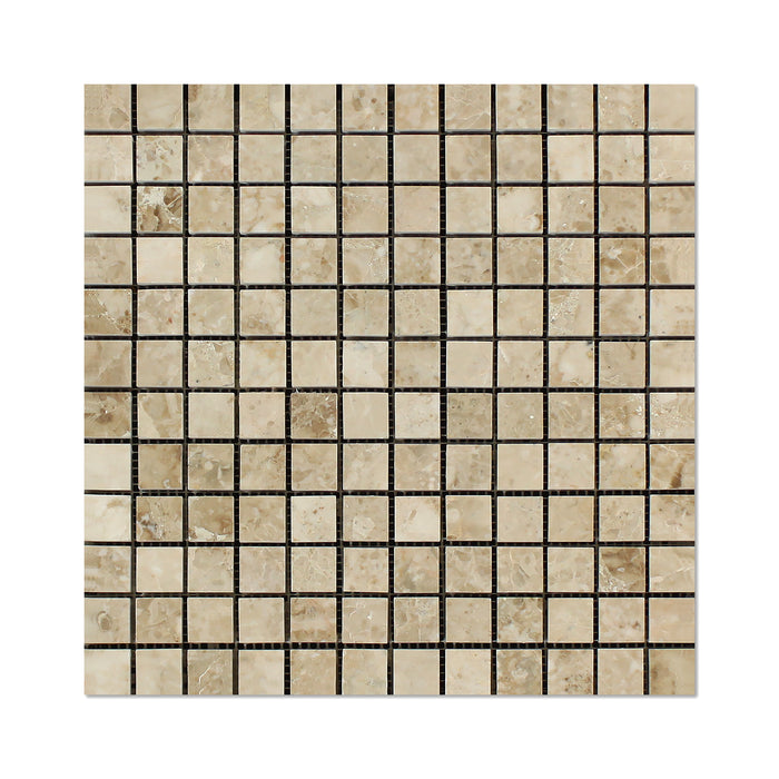 "Cappuccino Marble Mosaic - 1"" x 1"" Polished"