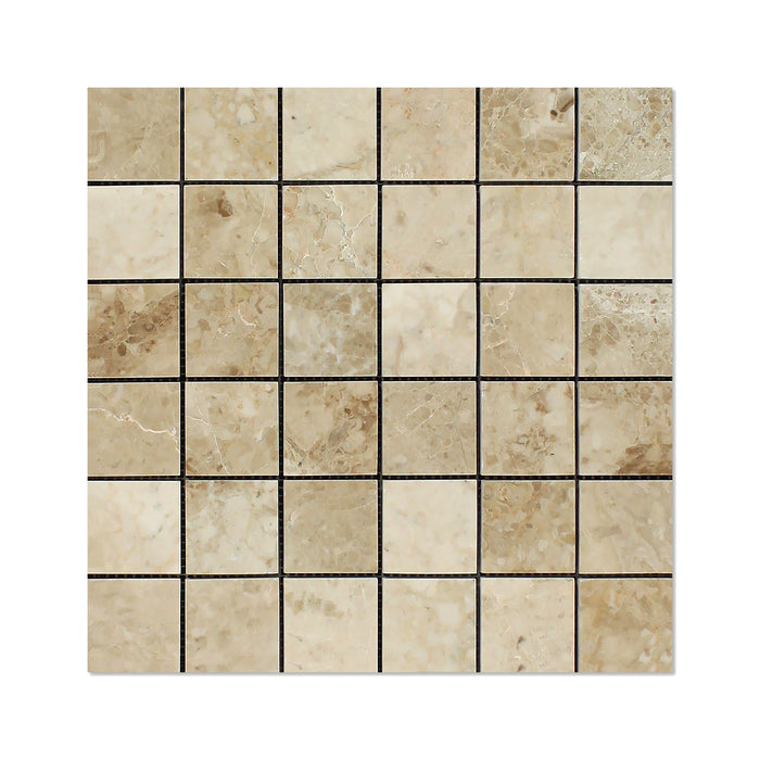 "Cappuccino Marble Mosaic - 2"" x 2"" Polished"