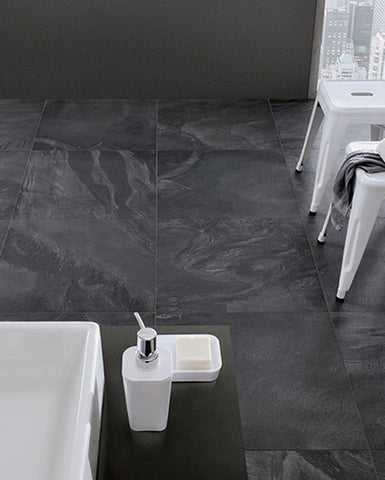 Matte Carys Ink Black Porcelain Tile